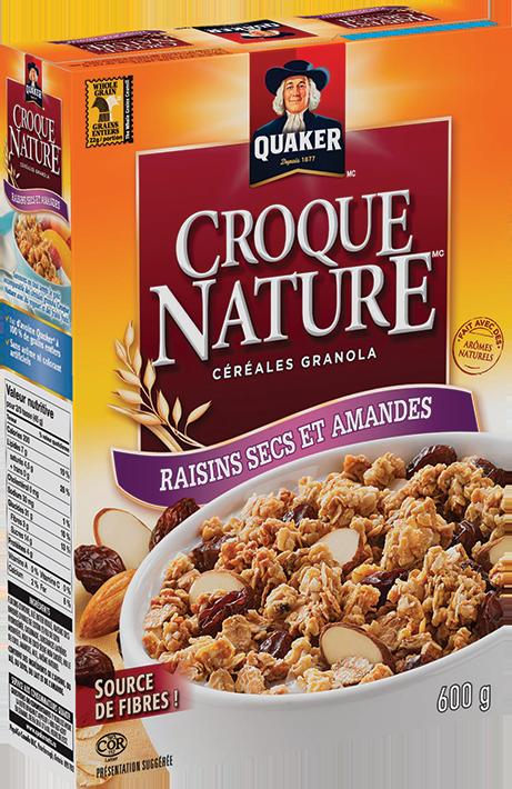 Céréales Croque Nature raisins secs et amandes