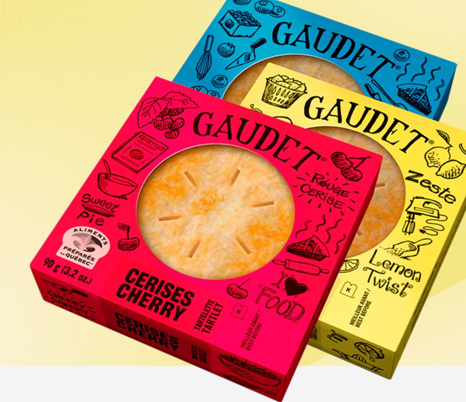 Tartelettes Gaudet, photo issue de leur site web